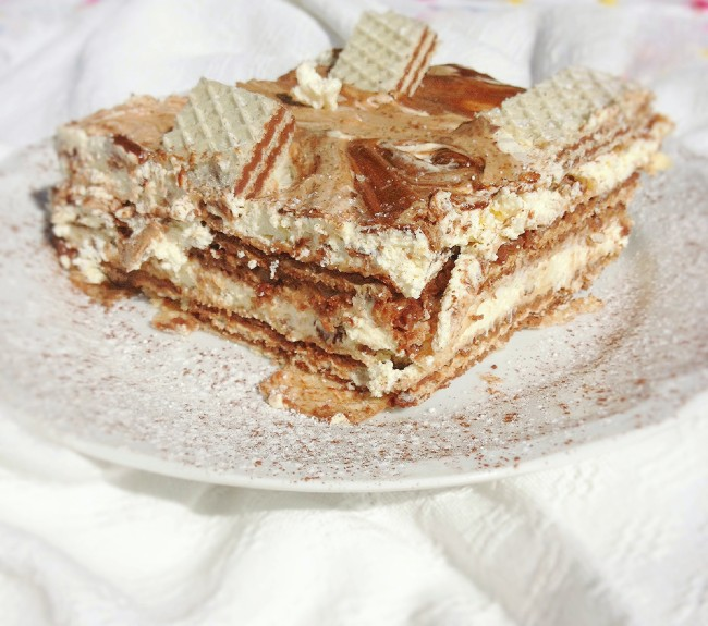torta wafer crema mascarpone e nutella